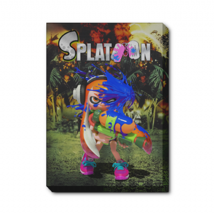 Splatoon Inkling Platoon Movie Poster Mash Up Canvas Print